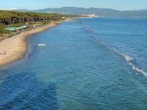 海滩意大利mozza torre托斯卡纳 图库摄影