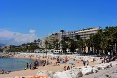 海滩戛纳法国 库存图片