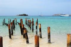 海滩打桩委内瑞拉 免版税库存图片