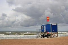 海滩抢救岗位 免版税库存照片