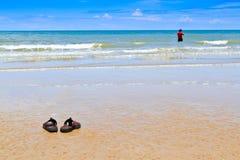 海滩拖鞋 图库摄影