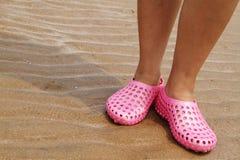 海滩拖鞋 免版税库存照片