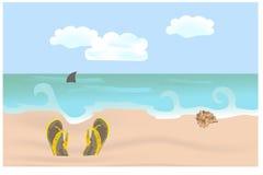 海滩拖鞋 皇族释放例证