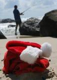 海滩拳击圣诞节放松 库存照片