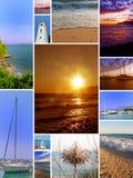 海滩拼贴画 图库摄影