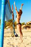 海滩排球 库存照片