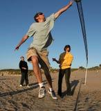 海滩排球 免版税库存图片