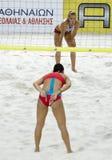 海滩排球 图库摄影