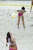 海滩排球 库存图片