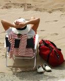 海滩放松西班牙 免版税库存图片
