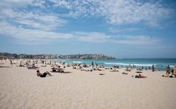 海滩放松 免版税库存照片