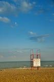 海滩救生员塔 库存照片