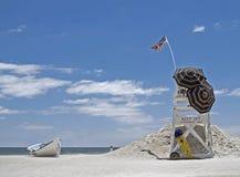 海滩救生员立场 免版税图库摄影