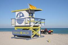 海滩救生员迈阿密塔 免版税库存图片