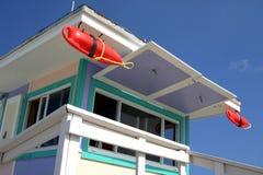 海滩救生员迈阿密岗位 免版税库存图片