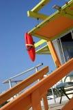 海滩救生员迈阿密岗位 库存照片