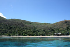 海滩斐济 库存照片