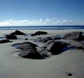 海滩新西兰 库存照片