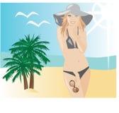 海滩方式乐趣夏天 免版税库存照片
