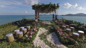 海滩旁边婚礼地点 影视素材