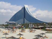 海滩旅馆jumeirah 免版税库存图片