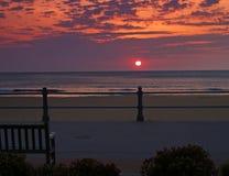海滩日出弗吉尼亚 库存图片