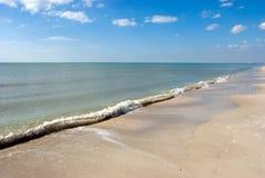 海滩日晴朗的迈阿密 免版税库存照片