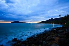 海滩日落回归线 库存照片