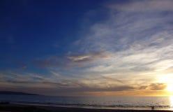 海滩日落 库存图片