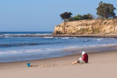 海滩日 免版税库存照片