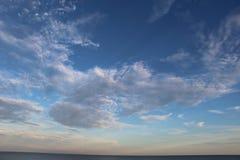 海滩时间天空 免版税库存照片
