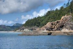 海滩昆士兰whitehaven 免版税图库摄影