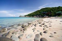海滩晃动在周围 免版税库存图片