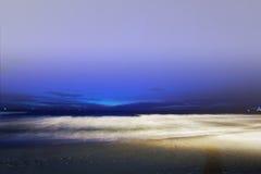 海滩晚上普吉岛热带的泰国 库存图片