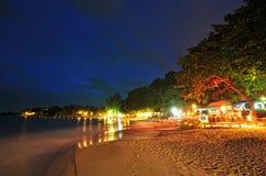 海滩晚上视图  免版税库存图片