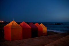 海滩晚上 免版税图库摄影