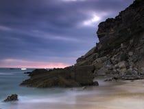 海滩晚上 库存图片