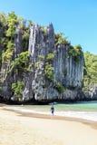 海滩普林塞萨港,菲律宾 免版税库存照片