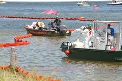 海滩景气油保护 免版税库存图片