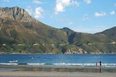 海滩晴朗日的春天 免版税库存照片