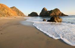 海滩晴朗的加利福尼亚 库存照片
