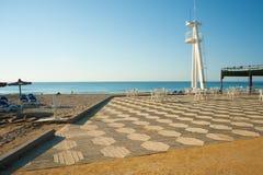 海滩晴朗的大阳台 免版税库存图片