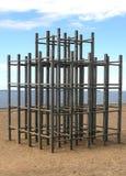 海滩木体操的密林 库存照片