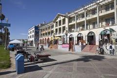 海滩木板走道威尼斯 库存照片