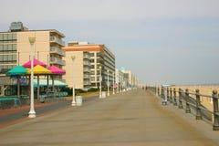 海滩木板走道弗吉尼亚 库存图片