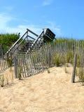 海滩木板走道 免版税库存图片