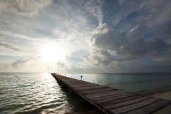 海滩木板走道 库存照片
