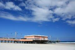 海滩木板走道daytona码头 免版税库存照片