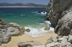海滩末端地产隔离了 免版税库存图片