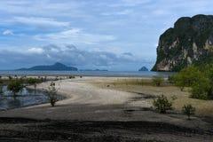 海滩朴蒙山董里府,泰国 免版税图库摄影